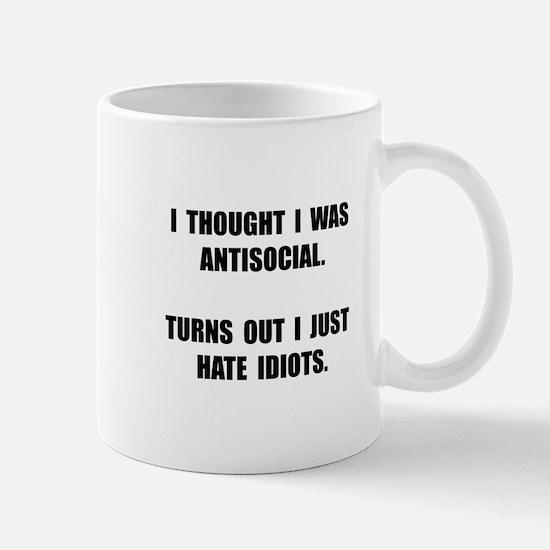 Antisocial Idiots Mug