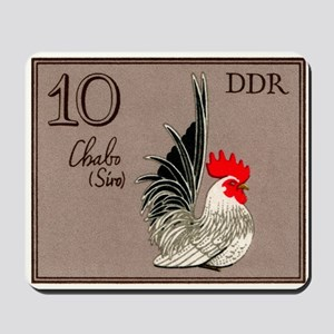 1979 Germany Chabo Rooster Postage Stamp Mousepad