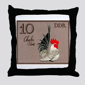 1979 Germany Chabo Rooster Postage Stamp Throw Pil