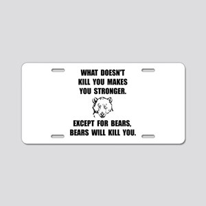 Bears Kill Aluminum License Plate