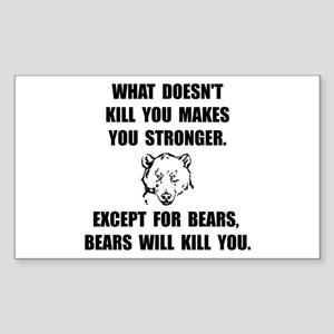 Bears Kill Sticker