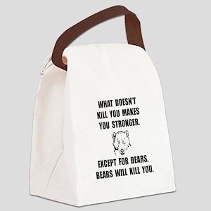 Bears Kill Canvas Lunch Bag