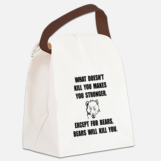 Bears Kill Canvas Lunch Bag