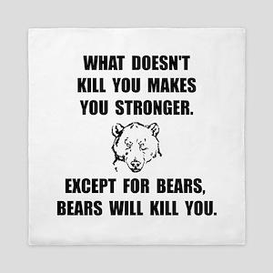 Bears Kill Queen Duvet