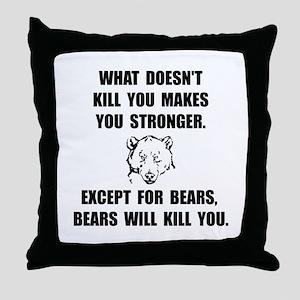 Bears Kill Throw Pillow