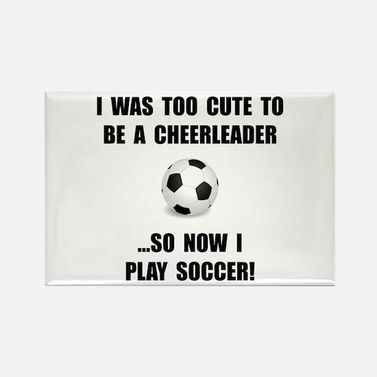 Cheerleader Soccer Rectangle Magnet (10 pack)