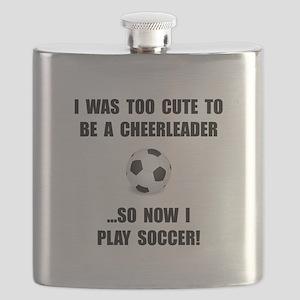 Cheerleader Soccer Flask
