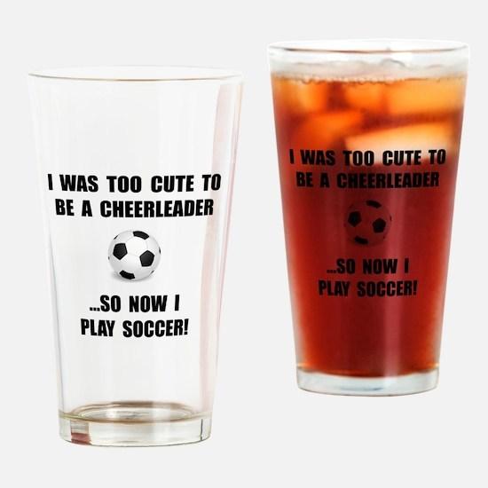 Cheerleader Soccer Drinking Glass