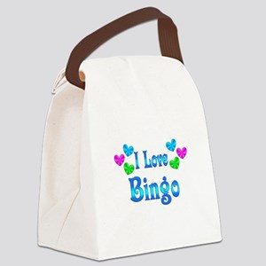 I Love Bingo Canvas Lunch Bag