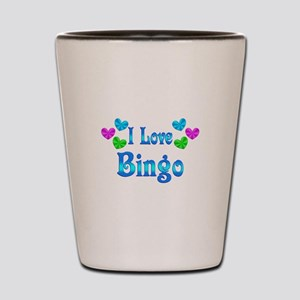 I Love Bingo Shot Glass