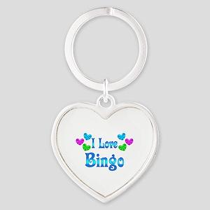 I Love Bingo Heart Keychain