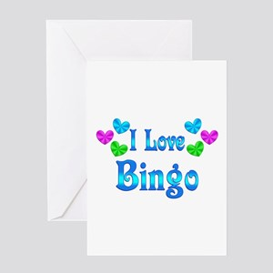 I Love Bingo Greeting Card