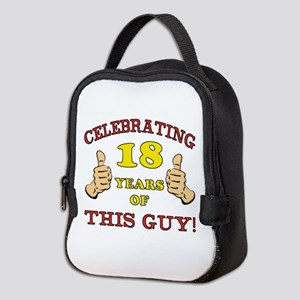 Funny 18th Birthday For Boys Neoprene Lunch Bag
