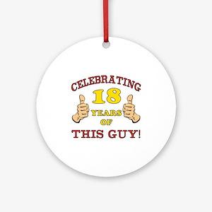 Funny 18th Birthday For Boys Ornament (Round)