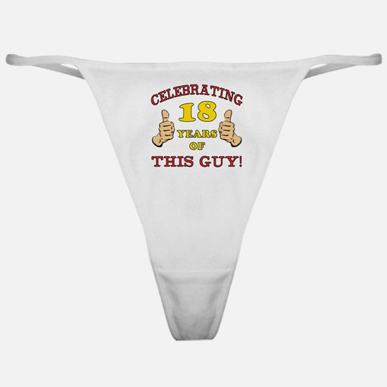 Funny 18th Birthday For Boys Classic Thong