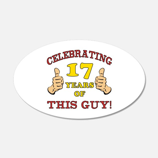 Funny 17th Birthday For Boys Wall Decal