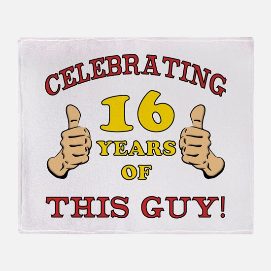 Funny 16th Birthday For Boys Throw Blanket