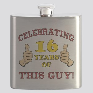 Funny 16th Birthday For Boys Flask