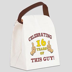 Funny 16th Birthday For Boys Canvas Lunch Bag