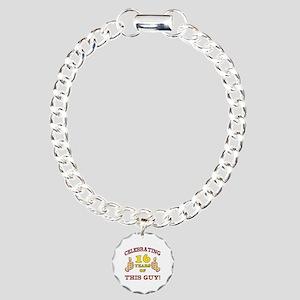 Funny 16th Birthday For Boys Charm Bracelet, One C