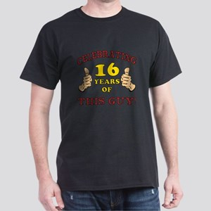 Funny 16th Birthday For Boys Dark T-Shirt