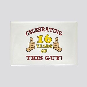 Funny 16th Birthday For Boys Rectangle Magnet