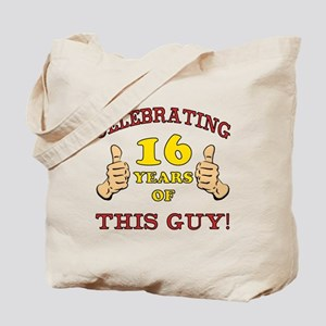 Funny 16th Birthday For Boys Tote Bag