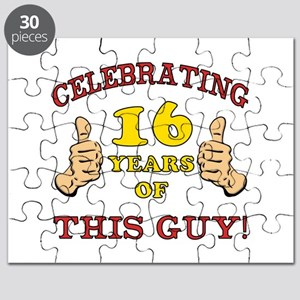 Funny 16th Birthday For Boys Puzzle