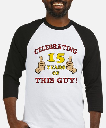 Funny 15th Birthday For Boys Baseball Jersey