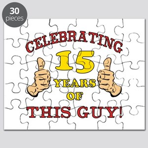 Funny 15th Birthday For Boys Puzzle