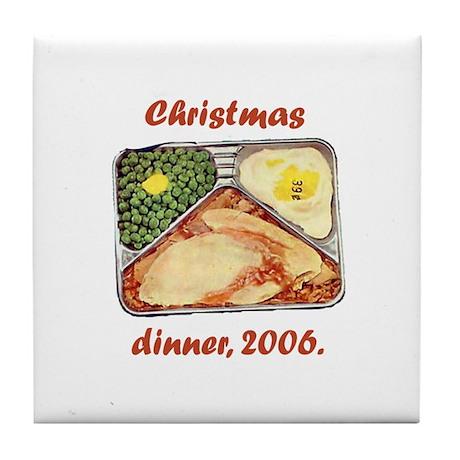 Tv Dinner for Christmas Tile Coaster