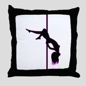 Stripper - Strip Club - Pole Dancer Throw Pillow