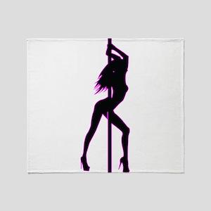 Stripper - Strip Club - Pole Dancer Throw Blanket