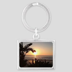 Ocean Sun Set Landscape Keychain
