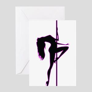 Stripper - Strip Club - Pole Dancer Greeting Card