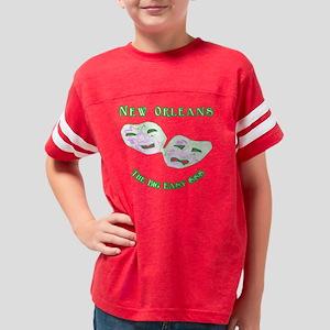 10x10_no_bigeasymoney_sym Youth Football Shirt