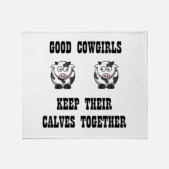 Good Cowgirls Throw Blanket