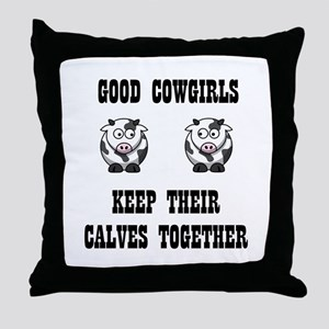 Good Cowgirls Throw Pillow