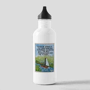 The Ark vs The Titanic / Sculpted Art Water Bottle