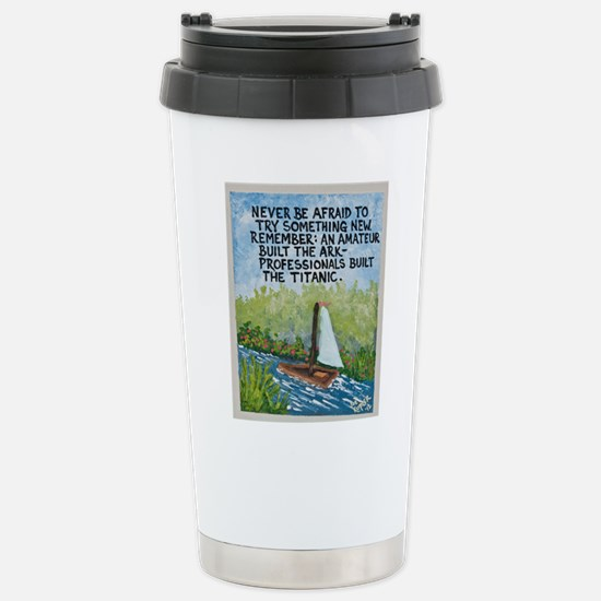 The Ark vs The Titanic / Sculpted Art Travel Mug