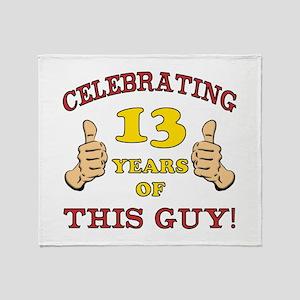 Funny 13th Birthday For Boys Throw Blanket