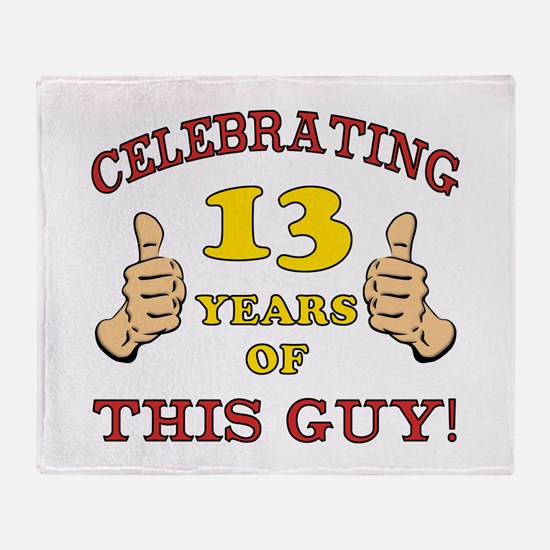 Funny 13th Birthday For Boys Throw Blanket