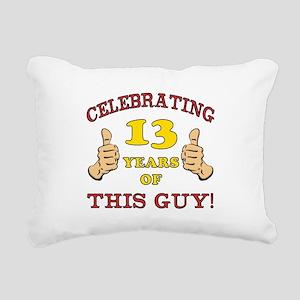 Funny 13th Birthday For Boys Rectangular Canvas Pi