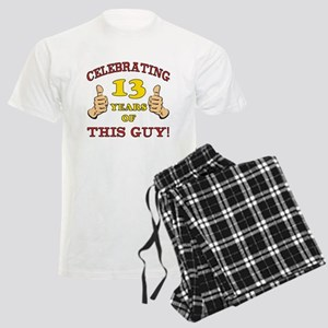 Funny 13th Birthday For Boys Men's Light Pajamas