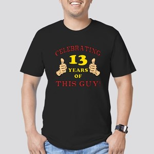 Funny 13th Birthday For Boys Men's Fitted T-Shirt