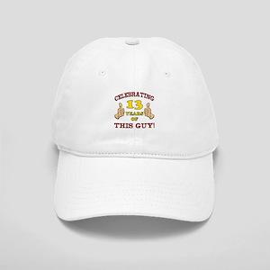 Funny 13th Birthday For Boys Cap