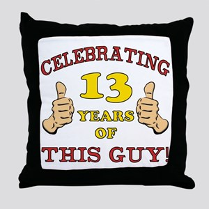 Funny 13th Birthday For Boys Throw Pillow
