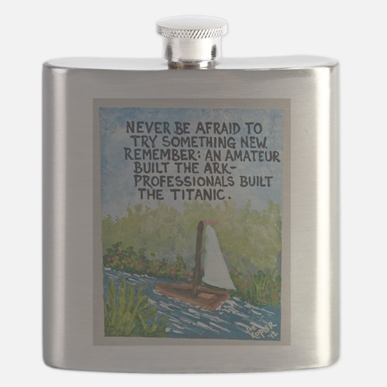 The Ark vs The Titanic / Sculpted Art Flask