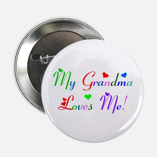 My Grandma Loves Me (des. #2) Button