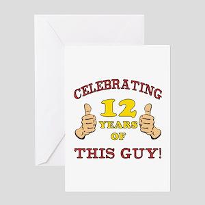 Funny 12th Birthday For Boys Greeting Card